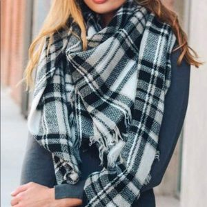 New Winter Flannel Frayed Blanket Scarf-LARGE